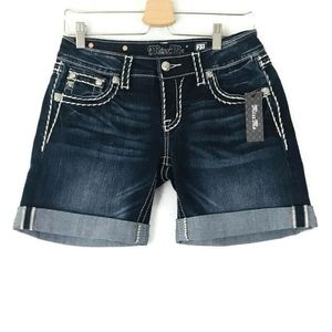 Miss Me Jeans Signature Mid SHORTS Bermuda